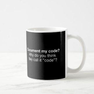 Caneca De Café Documente meu código