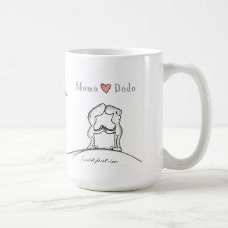 Caneca De Café Dodo do coração de Momo