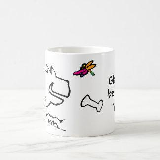 Caneca De Café Doggy com libélula