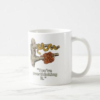 Caneca De Café Dois pares de cobras em um copo