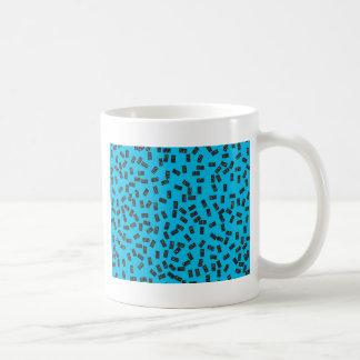 Caneca De Café Dominós no azul