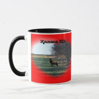 Caneca de café dos alces de Kansas!!!