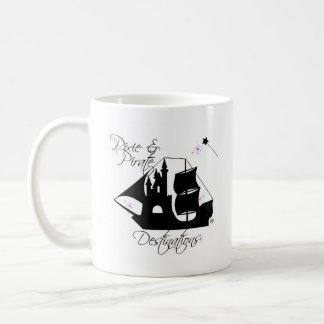Caneca de café dos destinos do duende e do pirata