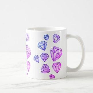 Caneca de café dos diamantes do brilho