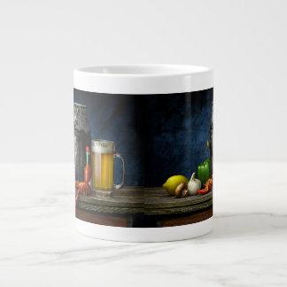 Caneca de café dos lagostins & da cerveja