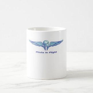 Caneca de café dos pilotos em vôo