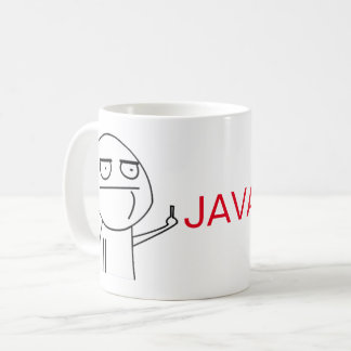 Caneca de café dos programadores de Java do dedo