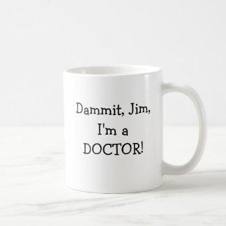 Caneca De Café Doutor engraçado do residente do interno do