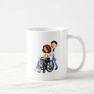 Caneca De Café Doutor Wheeling Paciente Cadeira de rodas dos