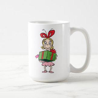 Caneca De Café Dr. Seuss | Cindy-Lou que - guardarando o presente