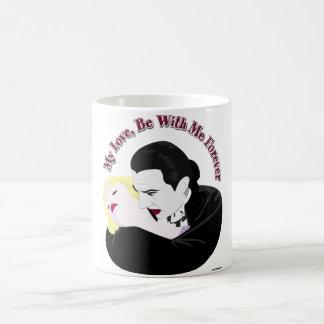 Caneca De Café Dracula, meu amor, seja comigo para sempre