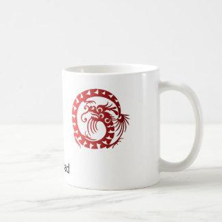 Caneca De Café Dragão chinês do dragão do dia dos pais