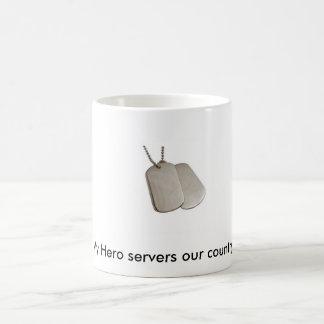 Caneca De Café E9060b, meus servidores do herói nosso país