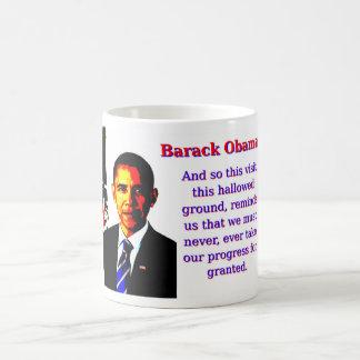 Caneca De Café E assim esta visita - Barack Obama