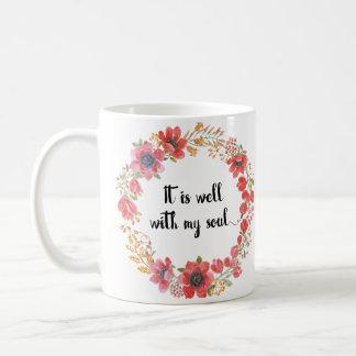 Caneca De Café É bem com minhas citações do hino da alma