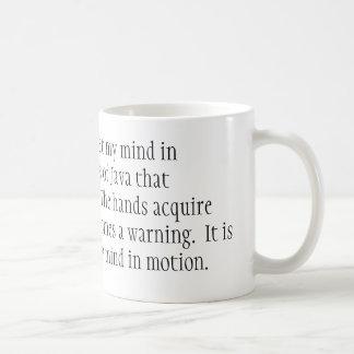 Caneca De Café É pela cafeína apenas que eu ajusto minha mente no