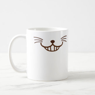 Caneca De Café É um gato! (Φ ω Φ) cara manhoso do gato do sorriso