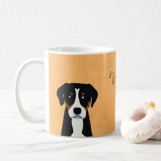 """Caneca De Café """"É uma vida dos cães! """", amarelo"""