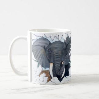 Caneca de café Eavesdropping do elefante