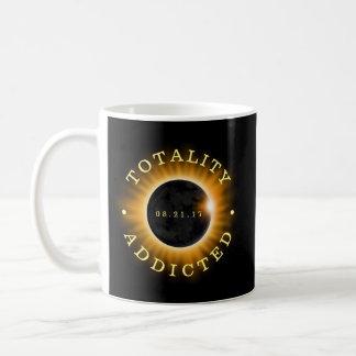 Caneca De Café Eclipse solar viciado da totalidade
