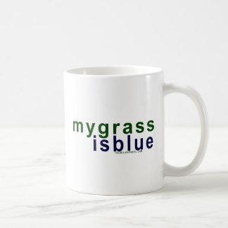 Caneca De Café Eco-Amigável minha grama é azul