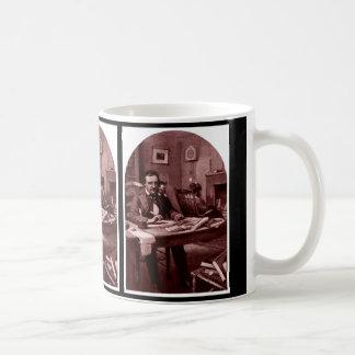 Caneca De Café Edgar Allan Poe, ilustração restaurou o copo 4