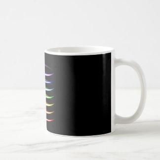 Caneca De Café Efeito da luz de incandescência colorido de néon
