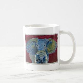 Caneca De Café Elefante africano através da arte do animal do