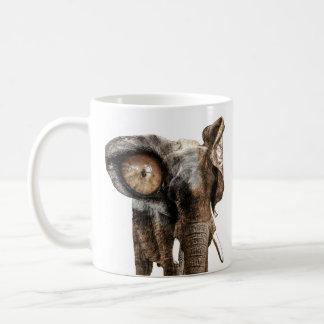 Caneca De Café Elefante da fantasia com um olho do tigre
