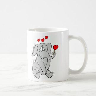 Caneca De Café Elefante do amor!