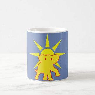 Caneca De Café Elefante e Sun