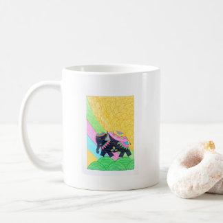 Caneca De Café elefante pequeno bonito do madhubani