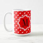 Caneca De Café Elefante vermelho vermelho