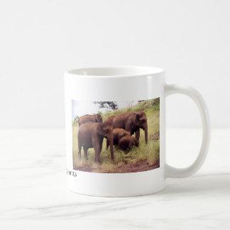 Caneca De Café Elefantes selvagens indianos