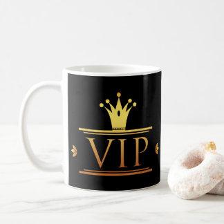 Caneca de café elegante do negócio do VIP do ouro