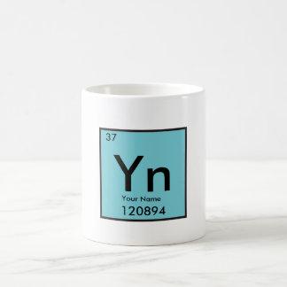 Caneca De Café Elemento químico de Personalizable