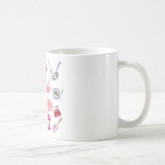Caneca De Café Eletricidade cor-de-rosa doce da cozinha e ícone