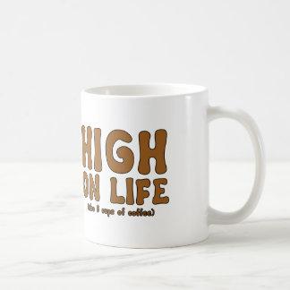 Caneca De Café Elevação na vida (também 6 chávenas de café)