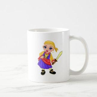 Caneca De Café Ella a princesa Enchanted Que Ser Você? Pirata