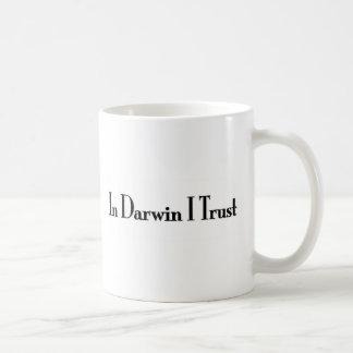 Caneca De Café Em Darwin eu confio