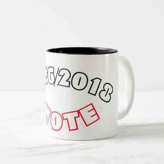 Caneca De Café Em Dois Tons 11/06/2018 de #VOTE