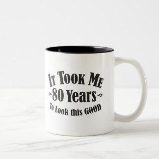 Caneca De Café Em Dois Tons 80 tomou-me 80 oitenta anos para olhar este bom