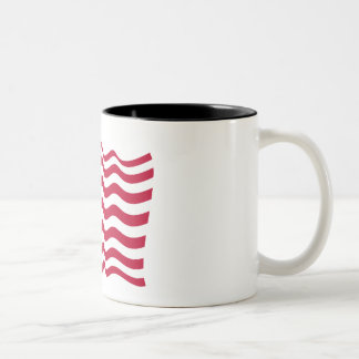 Caneca De Café Em Dois Tons A bandeira nacional dos Estados Unidos da América