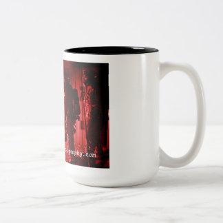 Caneca De Café Em Dois Tons A batalha