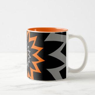 Caneca De Café Em Dois Tons A extensão de florescência:  Preto e laranja
