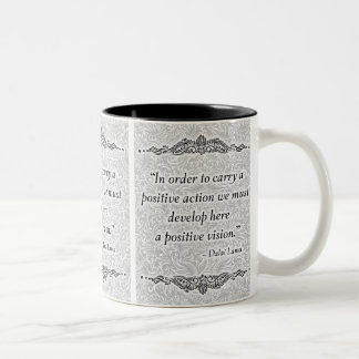Caneca De Café Em Dois Tons A fim levar um positivo - Quote´s positivo
