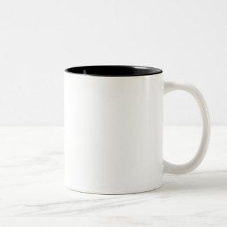 Caneca De Café Em Dois Tons A impressão digital do deus