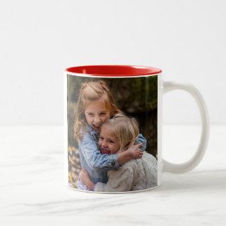 Caneca De Café Em Dois Tons A melhor foto sempre feita sob encomenda da mamã