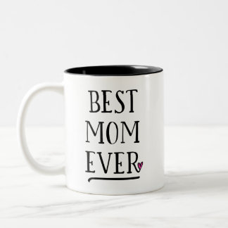 Caneca De Café Em Dois Tons A melhor mamã nunca com mensagem pessoal no outro