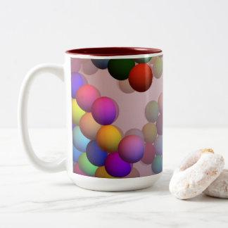 Caneca De Café Em Dois Tons A miçanga de flutuação (bolas) não se afunda